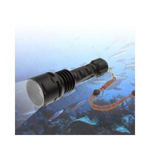 TrustFire TR-DF003 Lampe torche à LED de plongée 100 m, 3 x LED CREE XM-L T6, 3000 lm, 5 modes, avec 2 piles 26650 / chargeur multifonction (noir)