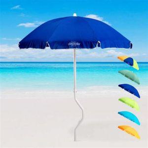 Parasol de plage 180 cm coton pêche GiraFacile DIONISO, Couleur: Bleu