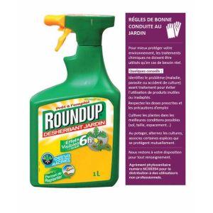 Désherbant pulvérisateur Roundup® 6H 1l Scotts - Le pulvérisateur de 1 l