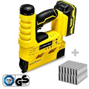 TROTEC Agrafeuse électrique sans fil PTNS 10-20V + Set d'agrafes type 55 hauteur 15-20 mm