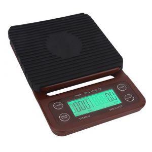 Balance de cuisine portative de Digital de balance électronique de café de haute précision avec l'affichage à LED