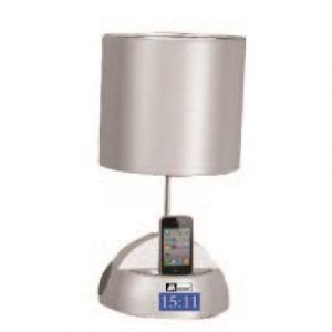 Mecer - MT311 - Station d'accueil iPhone/iPod - Lampe de chevet - Radio Réveil FM - Blanc