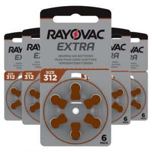Piles Auditives Rayovac 312 - Une plaquette