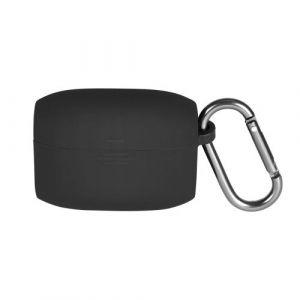Coque en silicone antichoc avec mousqueton pour Jabra Elite Active 65t - Noir