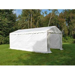Tente de stockage Tente Abri Basic 2-en-1, 4x8m PE, blanc