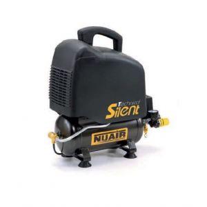 Nuair - Compresseur silencieux sans huile 1CV 0,75kW 230V 8 bar 6L - OM200/6 SILENT