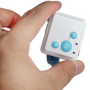 Mini traceur GPS tracker GPRS micro espion GSM télésecours SOS Blanc
