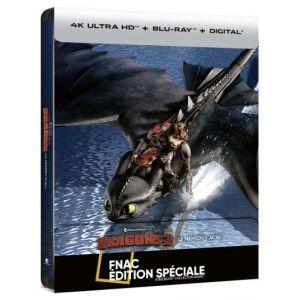 Dragons 3 : Le Monde Caché Steelbook Edition Spéciale Fnac Blu-ray 4K Ultra HD
