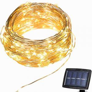 Guirlandes Lumineuses Solaire 22m 150 LED Étanche Décoration Extérieur / Intérieur pour Fêtes, Noël, Mariages, Anniversaire