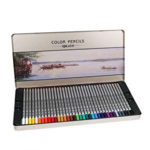 Multi Color Crayon Kit 72 couleur avec fer boîte d'emballage Set Crayons de couleur @WAN90705001C