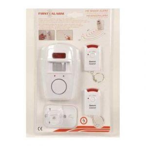 alarme sans fil avec detecteur de mouvement infrarouge avec telecommande