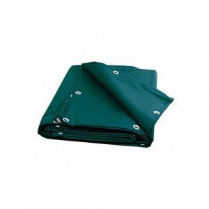 Toile pergola et tonnelle 680g /m² - bâche protection verte 7x9 m