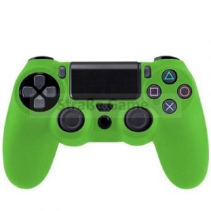 Housse pour Sony Playstation 4 / PS4 - étui protection silicone - Anti choc / rayures - Vert - Straße Game ®