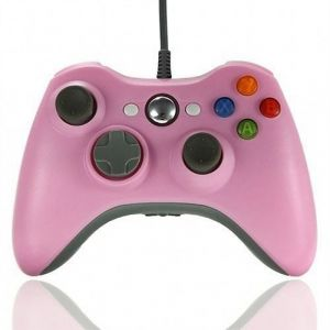 Manette filaire Rose pour Xbox360/PC SUVOM