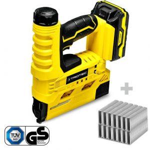 TROTEC Agrafeuse électrique sans fil PTNS 10-20V + Set d'agrafes type 55 hauteur 25 mm