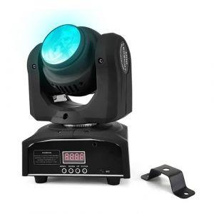Jeu de lumière - Lyre à LED double tête effet BEAM - 10W - DMX - F1700074 DOUBLEBEAM