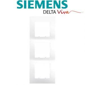 Siemens - plaque triple blanc siemens delta viva