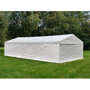 Tente de stockage Tente Abri Basic 2-en-1, 5x8m PE, blanc