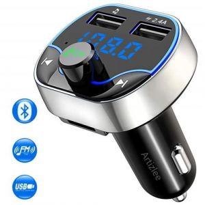 Transmetteur fm Bluetooth, Voiture Chargeur Lecteur MP3, ARTIZLEE Adaptateur Radio Sans Fil Kit Émetteur