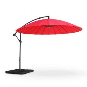 Parasol déporté Shanghai Ø288cm rond Rouge - Alice's Garden