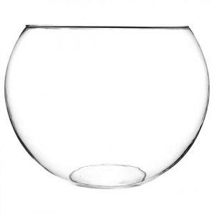 Paris Prix - Vase En Verre boule 30cm Transparent