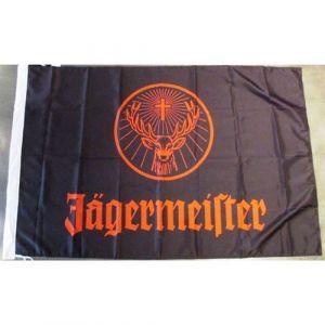 drapeau jagermeister noir et orange bar diner loft pub rare