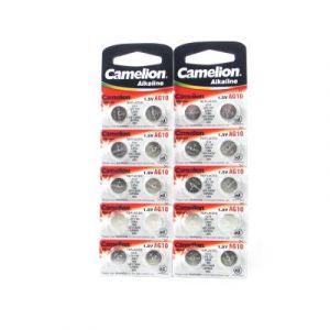 Lot de 20 piles Camelion AG10 / LR54 / 189 / 389 / LR1130 pile bouton longue durée de conservation