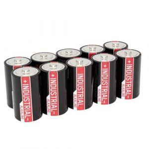 ANSMANN Industrial Alkaline D LR20 Piles Alcalines Batteries Haute Performance (Pack de 10)