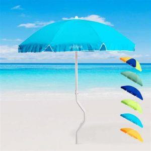 Parasol de plage 180 cm coton pêche GiraFacile DIONISO, Couleur: Turquoise