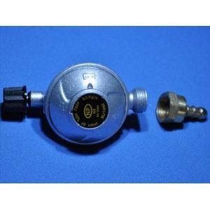 Détendeur gaz butane 28 Mbar + tétine pour bouteilles Campingaz