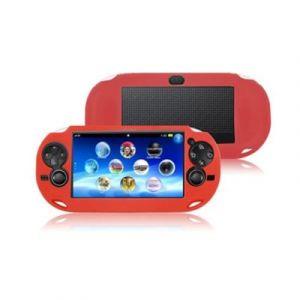 Housse étui protection silicone pour Sony ps vita PSvita - Anti choc / rayures - Rouge - Straße Game ®