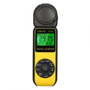 Enregistreur de lumière Température ,BTMETER Luxomètre Thermomètre numérique LCD , Luminomètre valeur max / min, avec sac