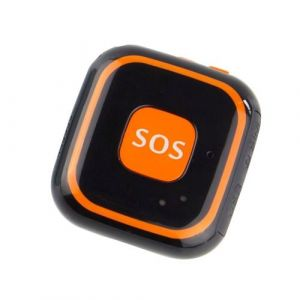 Super Mini Traceur Android Ios Gps Collier Gsm Wifi Agps Communication Sos Noir - Yonis