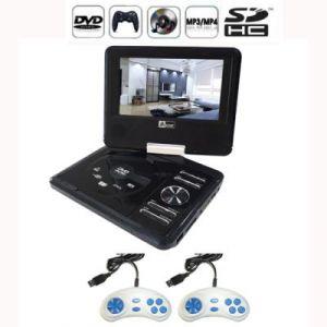 Lecteur dvd portable 7 pouces rotatif usb-sd avec 300 jeux