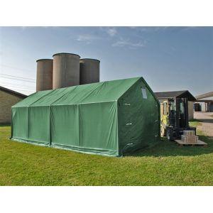 Tente de Stockage Tente Abri PRO 4x8x2x3,1m, PVC, Vert