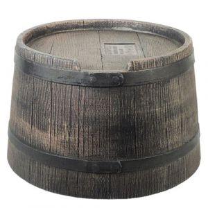 Pied Pour Récupérateur D'Eau En Forme De Barrique (Wiskey, 120 L) - Pe, Brun - H30 X Ø57 Cm