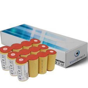 Lot de 3 batteries pour Karcher k50 4.8V 2000mAh Balai électrique - Visiodirect -