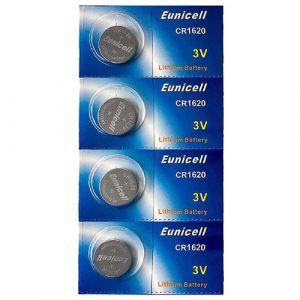 4 Piles Bouton Pkcell CR1620 - Pile Lithium 3V