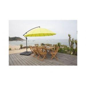 Finlandek - parasol deporte shanghai aluminium 3m - vert - hyoty