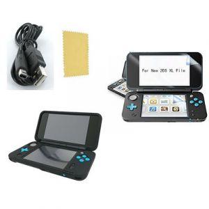 Pack Nintendo New 2DS XL Housse silicone-Chargeur USB - Film de protection écran - Straße Game ®