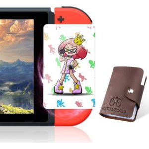 16 pièces Cartes de jeu NFC pour Splatoon 2 compatible avec Nintendo Switch/Wii U avec porte-cartes