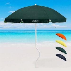 Parasol de plage GiraFacile 200 cm coton pêche ARTEMIDE, Couleur: Vert foncé