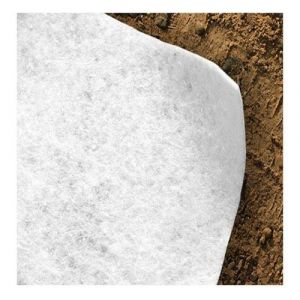 Feutre géotextile 300 g/m² Atout Loisir Longueur : 75 m, Largeur : 4 m Blanc