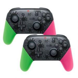 Qumox Manette De Jeux Contrôleur Bluetooth Pro Sans Fil Gamepad Compatible Pour Nintendo Switch Vert /rose X2