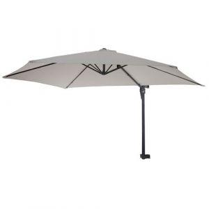 Parasol de mur Casoria, parasol déporté pour balcon ou terrasse, 3m inclinable ~ sable