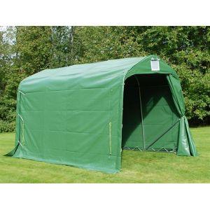 Tente de stockage Tente Abri PRO 2,4x3,6x2,34m PVC, Vert