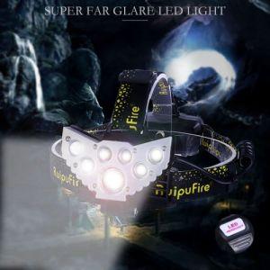 7X XM-L T6 LED rechargeable Projecteur Phare Voyage Lampe frontale