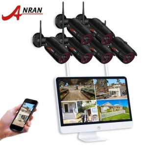 Kit caméras pour surveiller*vidéosurveillance Sans-Fil+étanche +en intérieur et en extérieur*8CH 15 pouces HD 1080P WIFI NVR avec 6 ×caméras 1080p