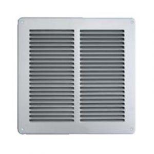 Grille ventilation 240x240mm Inox - Avec moustiquaire