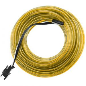 Fil électroluminescent 2.3mm bobine 25m d'or